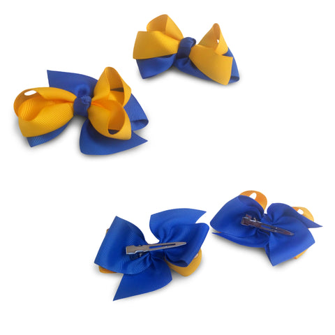 Aggie Cheer Hair Bows - Set of 2 - HBCUprideandjoy