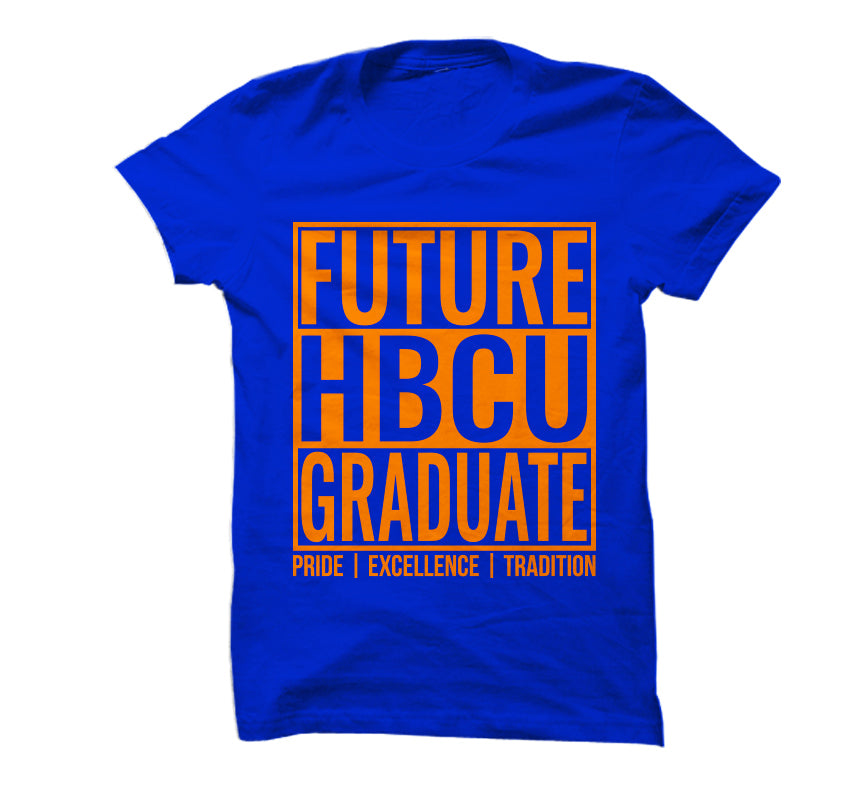 Future HBCU Graduate T-Shirt - Orange/Blue Style - HBCUprideandjoy