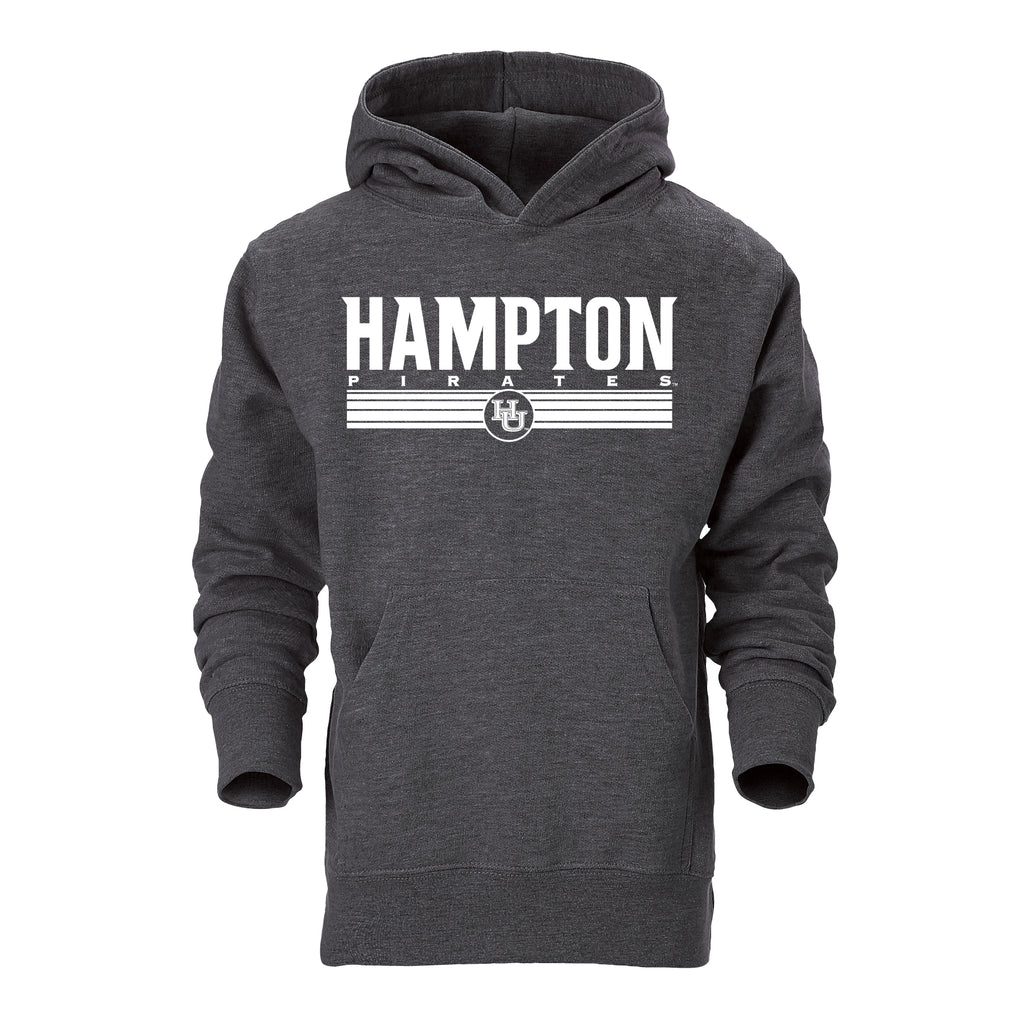Hampton Pirates Classic Youth Hoodie in Gray