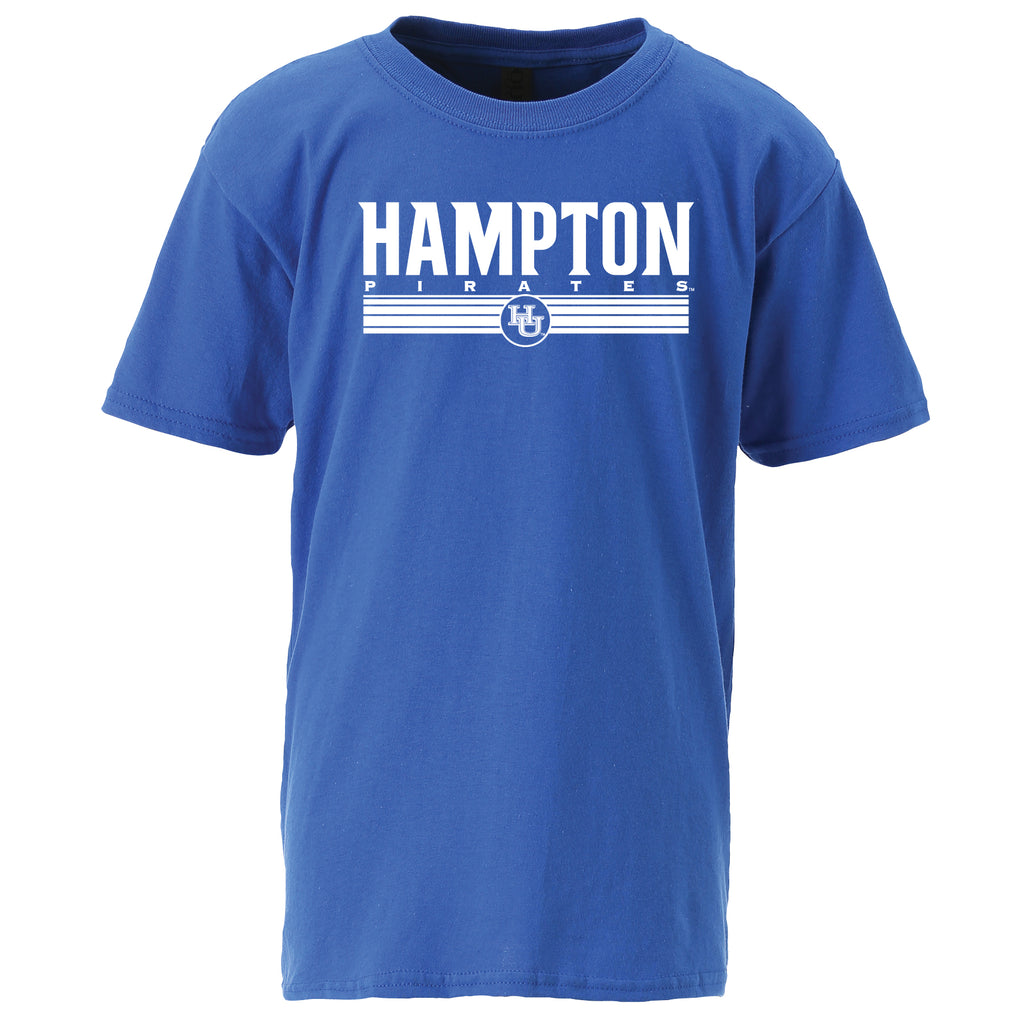 Hampton Pirates Classic Youth Tee in Blue