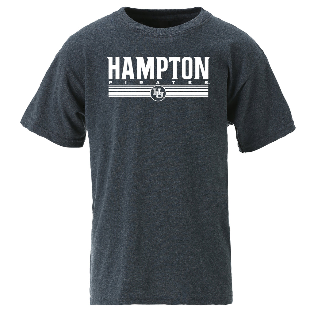 Hampton Pirates Classic Youth Tee in Gray