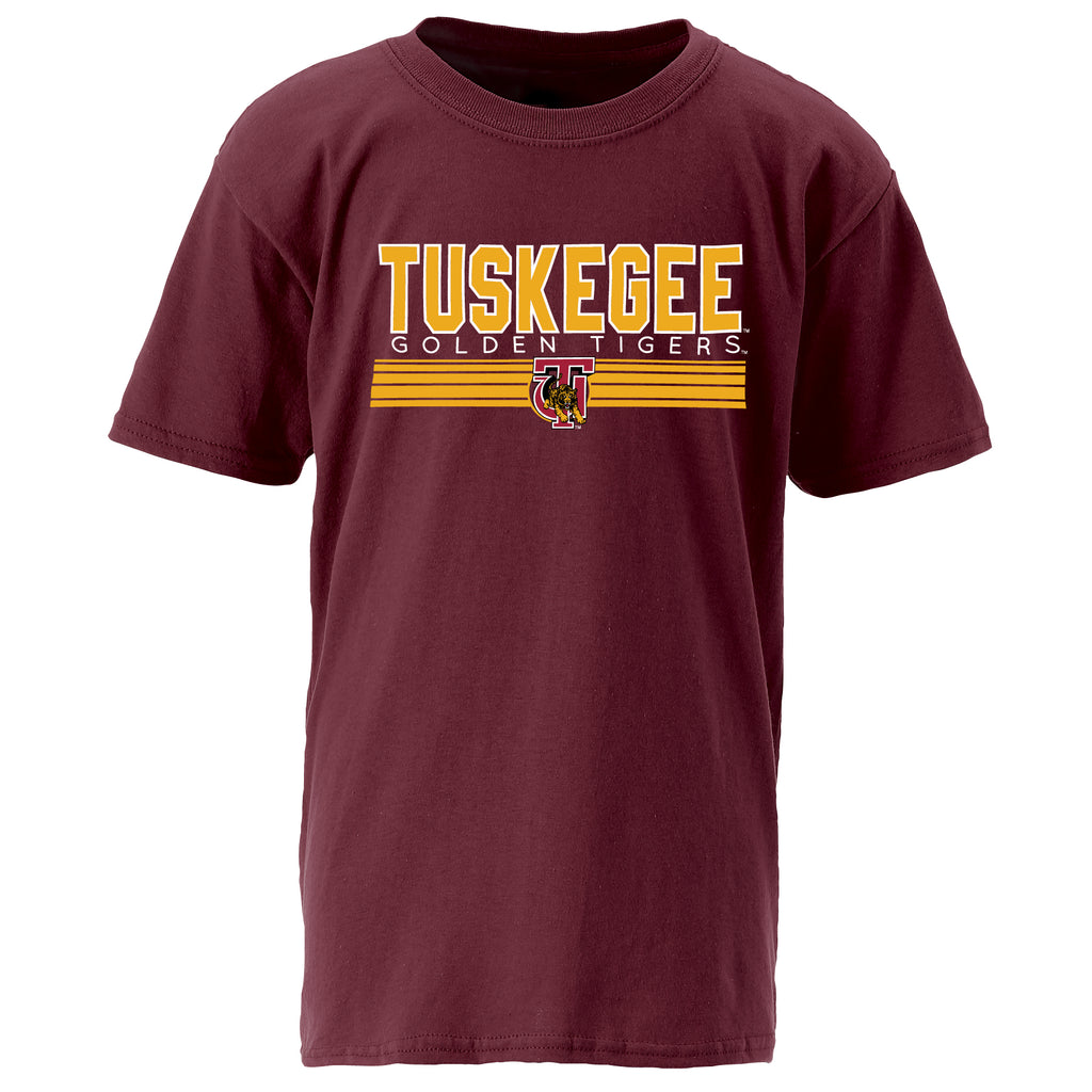 Tuskegee Golden Tigers Classic Tee in Maroon
