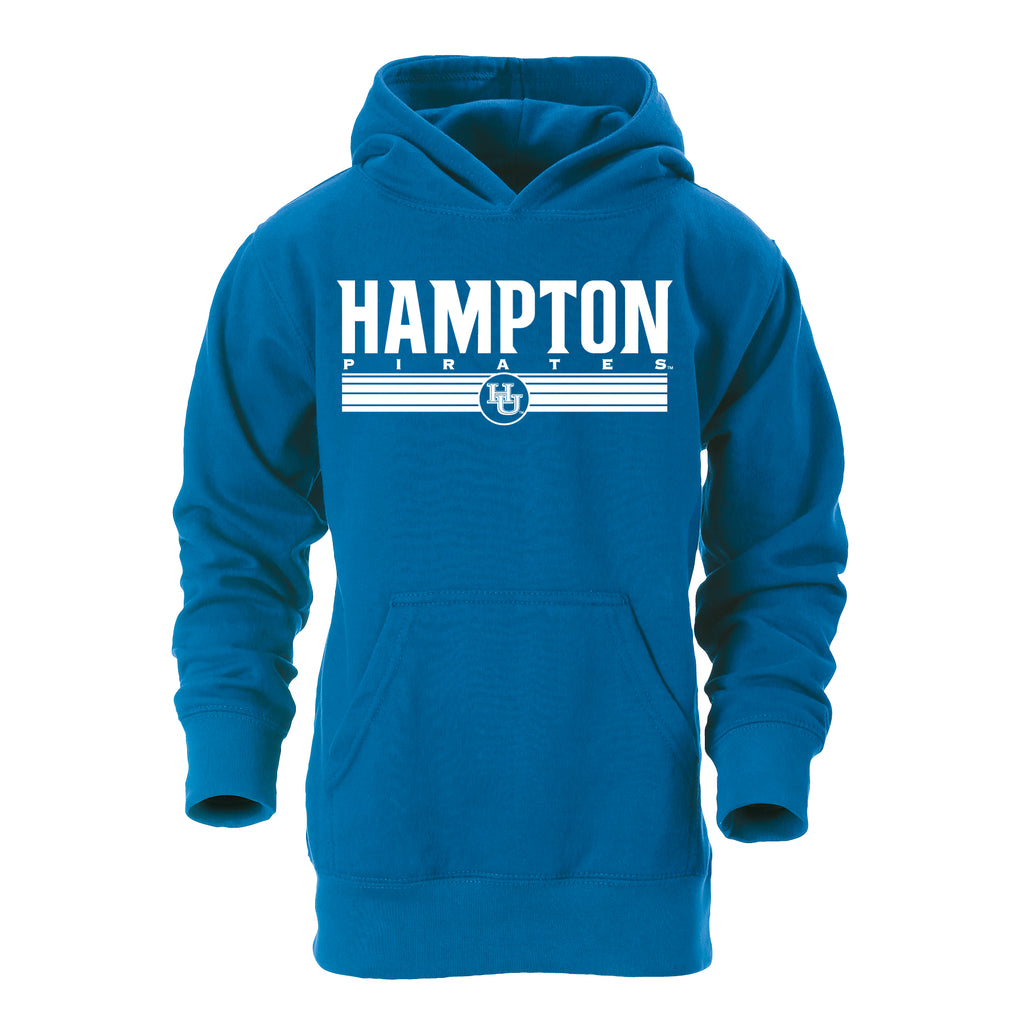 Hampton Pirates Classic Youth Hoodie in Blue
