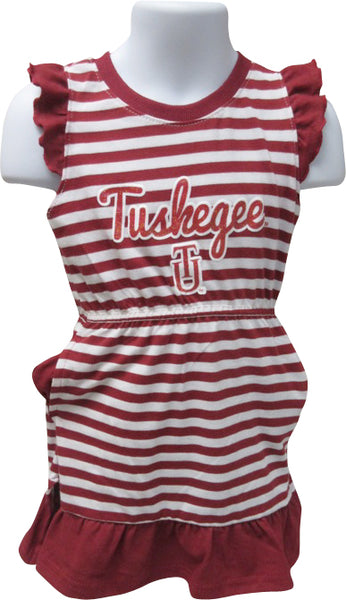 Tuskegee Queen in Training Stripe Dress - HBCUprideandjoy