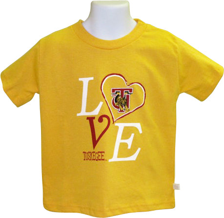 """LOVE"" Tuskegee University Girls' T-Shirt - HBCUprideandjoy"
