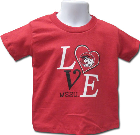 """LOVE""  WSSU Girls' T-Shirt - HBCUprideandjoy"