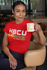 HBCU Moms Rock Tee Red with Mug
