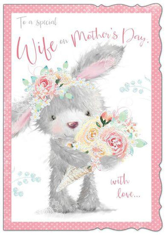 To A Special Wife On Mothers Day Cute Card