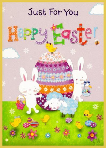 Just For You at Easter Bunny and Egg Card