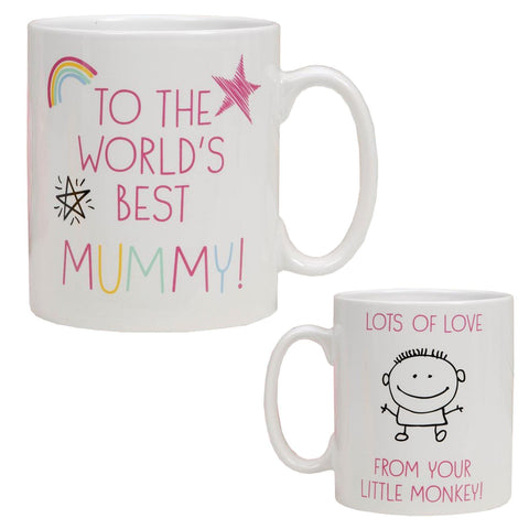Ceramic Mug 'World's Best Mummy from Your little Monkey'
