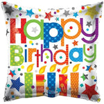 "Happy Birthday Candles 18"" Foil Balloon"