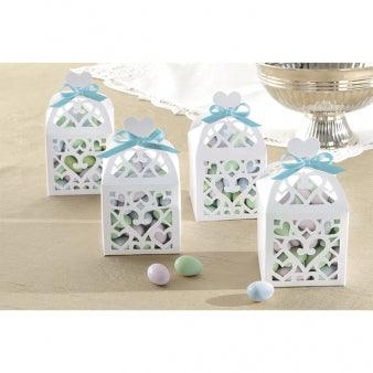 Lantern Favour Boxes - White-Pack of 50