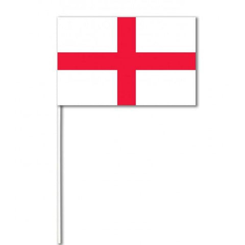 White Plastic Stick Paper Hand Waving Flags - England