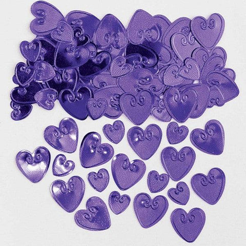 Purple Love Hearts Table Confetti