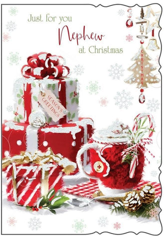 Just For You Nephew at Christmas Card