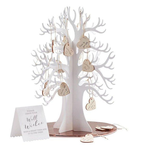 Beautiful Botanics Wooden Wishing Tree Guest Book Alternative