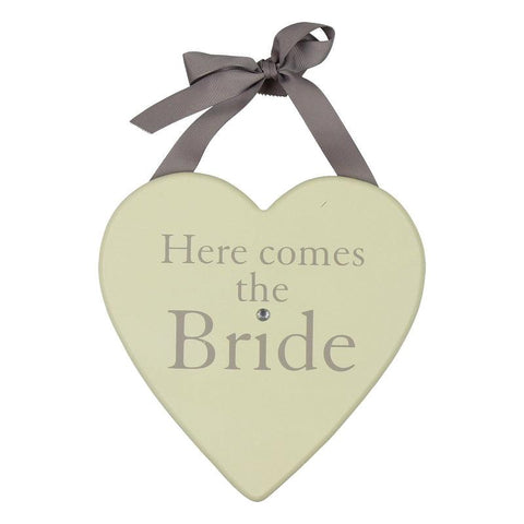 Amore Wedding Heart Plaque-Here Comes the Bride