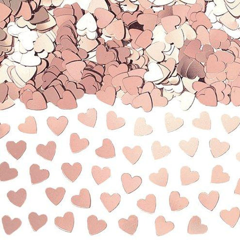 Rose Gold Heart Confetti