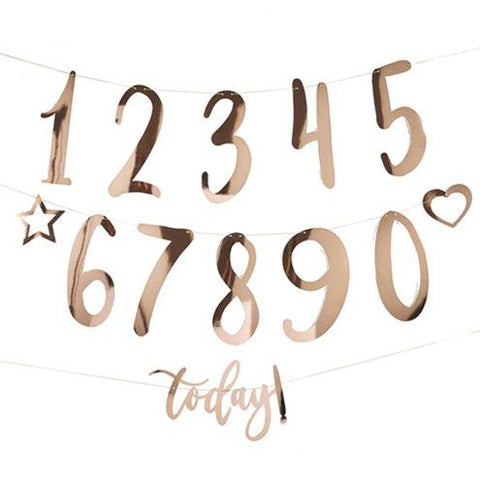 Rose Gold Create Your Own Birthday Bunting-1.5m