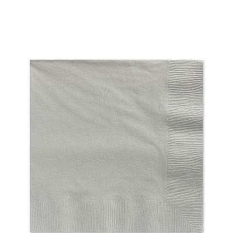 Silver Lunch Napkins 33cm
