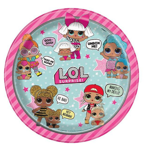 L.O.L Surprise Plates - 23cm Party Plates