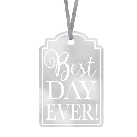 Silver Best Day Ever Tags - Pack of 25
