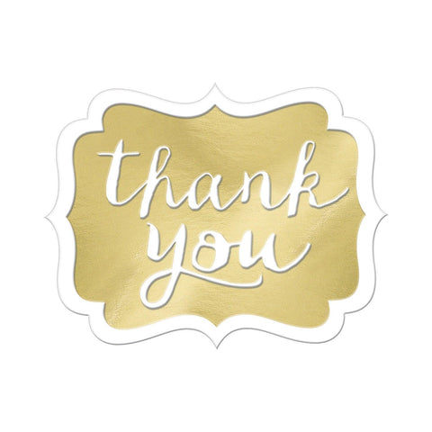 Gold Thank You Stickers - Pack of 50