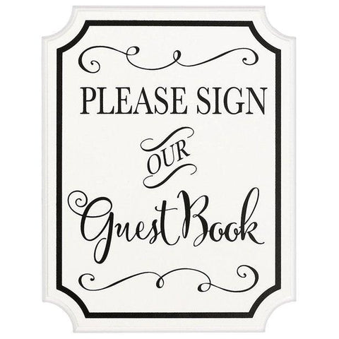 Please sign our Guest Book MDF Sign With Easel