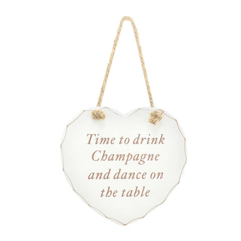 Time to Drink Champagne Plaque