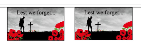 19ft Lest We forget Polyester Bunting