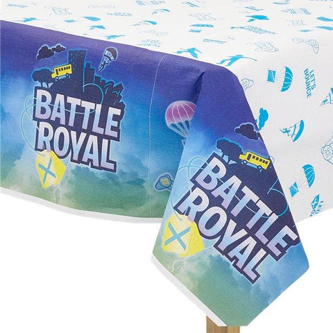Fortnite Blue Paper Table Cover