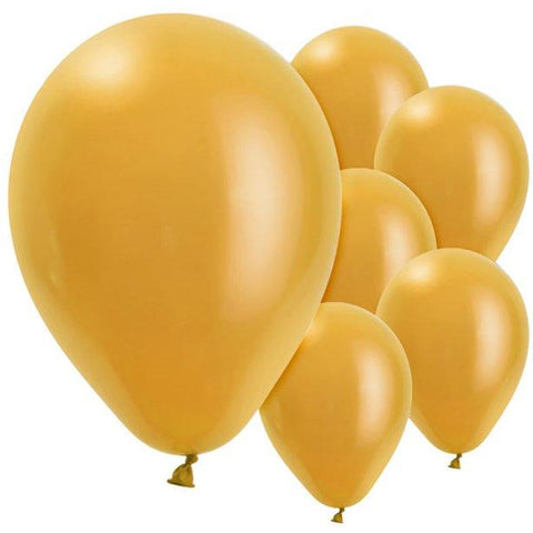 Gold Pearl Latex Balloons - 11''