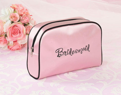 Lillian Rose Pink Bridesmaid Travel Makeup Bag
