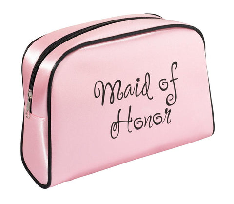 Lillian Rose Pink Maid of Honor Travel Makeup Bag