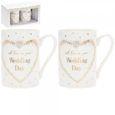 With Love on Your Wedding Day Mug Set