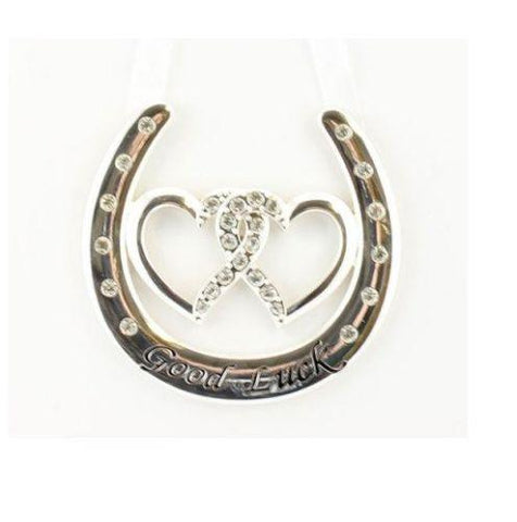 Double Heart Good Luck Wedding Horse Shoe