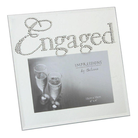 Impressions Mirror Glass Engaged Photo Frame