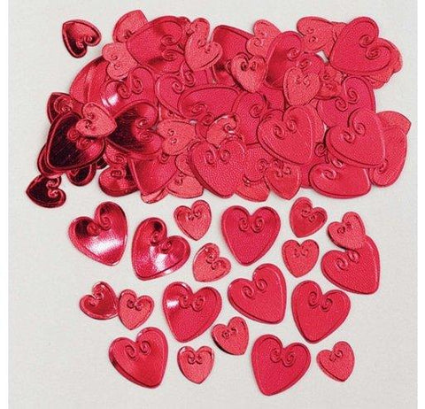 Red Heart Foil Confetti 14g