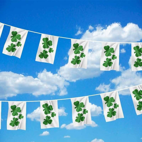 65ft Ireland Shamrock Bunting