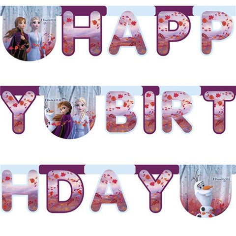 Frozen 2 Birthday Letter Banner