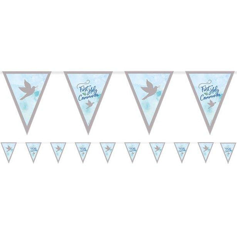 Blue Communion Pennant Bunting
