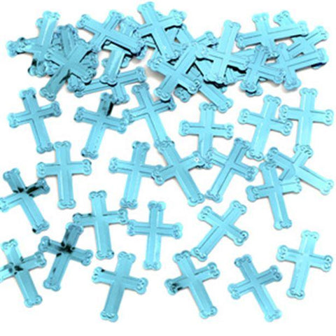 Blue Crosses Table/Invite Confetti-14g