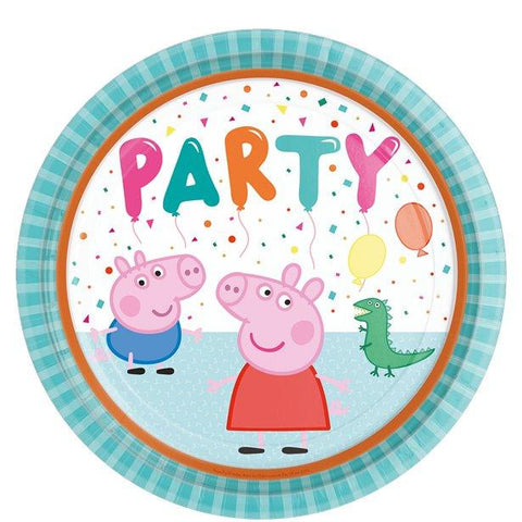 Peppa Pig Paper Party Plates - 23cm