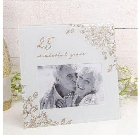Amore 25th Anniversary Glass Photo Frame