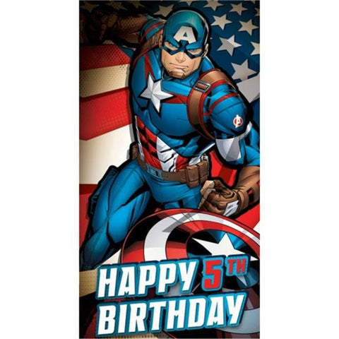 Captain America Birthday Card
