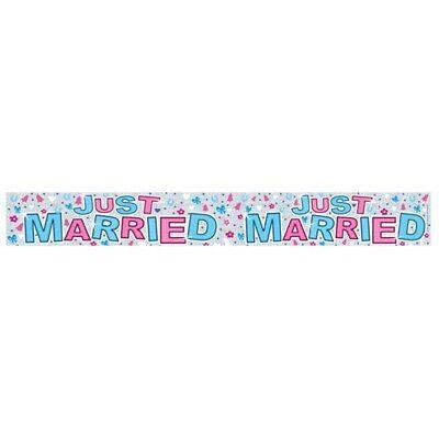 Just Married Foil Banner-9ft