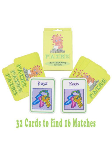 Baby Shower Memory Game Cards