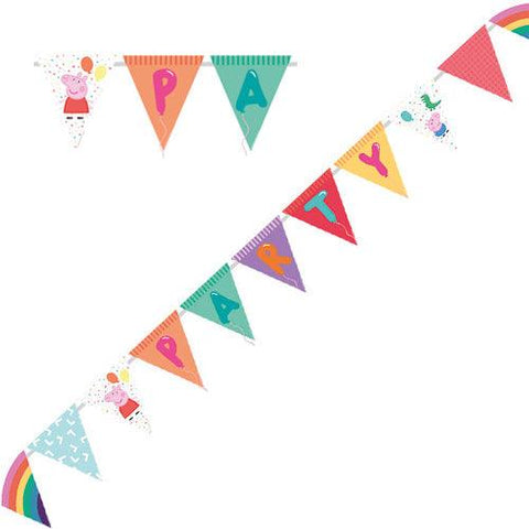 Peppa Pig Bright Party Pennant Banner
