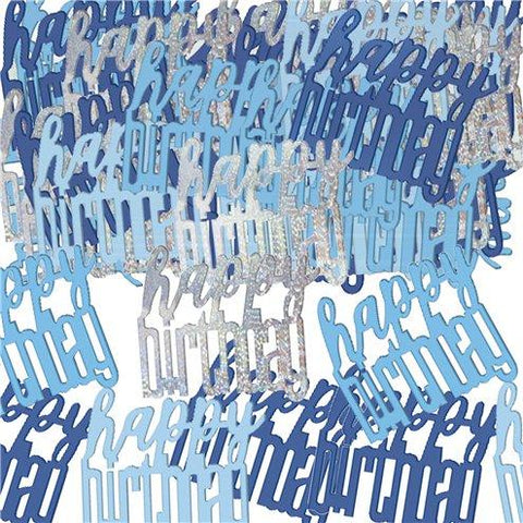 Blue Birthday Glitz Confetti