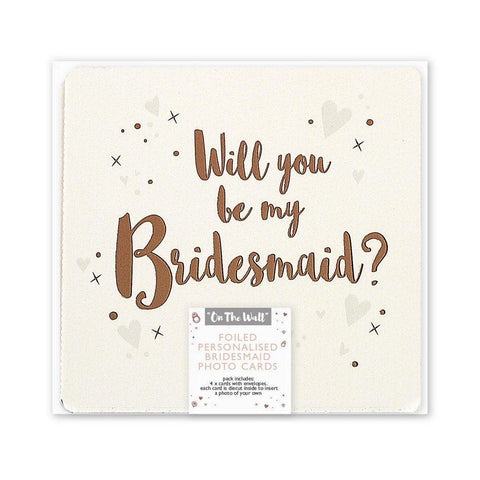 Rose Gold Will you be my Bridesmaid Photo Cards